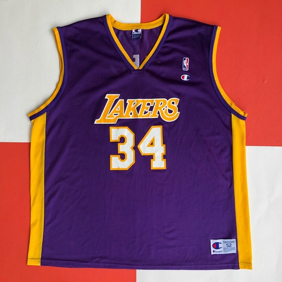 c183515fb70 Champion Shirts | Vintage Shaquille Oneal Lakers Jersey | Poshmark